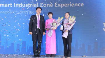 SAIGONTEL signed cooperation with Microsoft and Tech Data at the Intelligent Industrial Technology Solution Exhibition