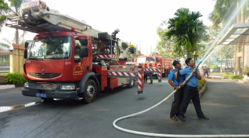Fire prevention training prevention at Saigon ICT Tower