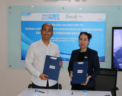 SAIGONTEL cooperates with Freedom DEVELOPERS to invest and develop the 300A-B Nguyen Tat Thanh building