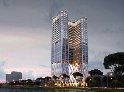 SAIGONTEL CROWN COMPLEX - PROJECT OF COMPLEX OF SHOPPING MALL AND LUXURIOUS APARTMENT
